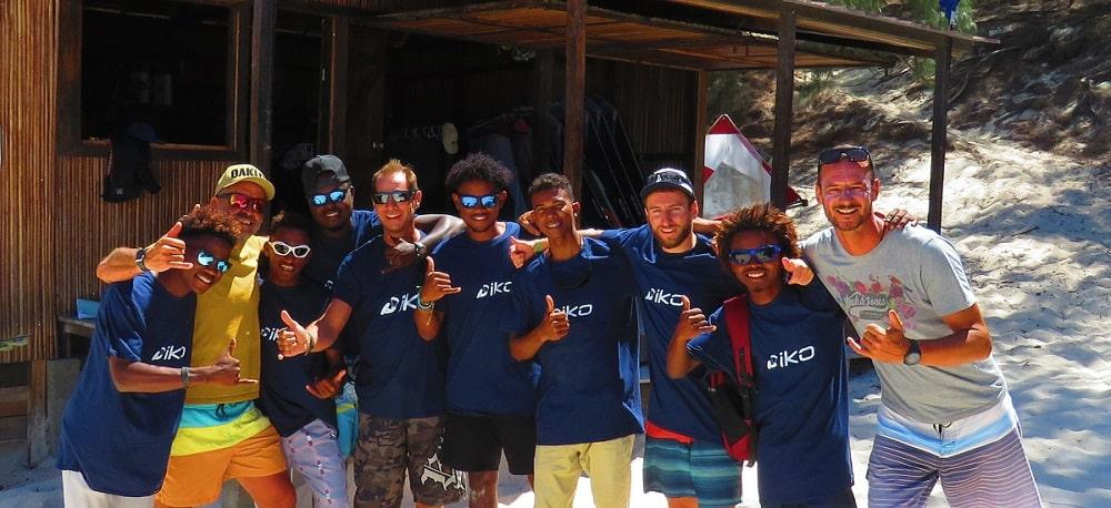 L'équipe de l'école de kitesurf Kite Alizé.